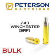 Peterson Brass 243 Winchester Small Primer Unprimed Bulk Box of 500