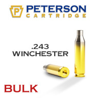 Peterson Brass 243 Winchester Unprimed Bulk Box of 500