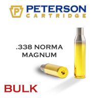 Peterson Brass 338 Norma Mag Uprimed Bulk Box of 250