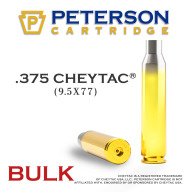 Peterson Brass 375 Cheytac Unprimed Bulk Box of 200