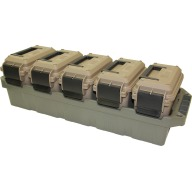 MTM 5-CAN AMMO CRATE w/5 AC15's DKEarth/ARMYGN