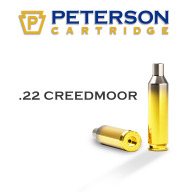 Peterson Brass 22 Creedmoor Unprimed Box of 50