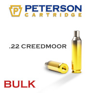 Peterson Brass 22 Creedmoor Unprimed Bulk Box of 500