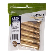 Top Brass 50 BMG Once Fired Military NATO Unprimed Bag of 10