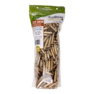 Top Brass 223 Remington Once Fired Military NATO Unprimed Bag of 250