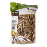 Top Brass 308 Winchester Once Fired Military NATO Unprimed Bag of 250