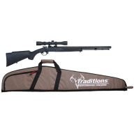 TRADITIONS BUCKSTALKER RIFLE .50 BLACK 24 BL/SCOPE/CSE